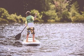 SUP Paddleboard Lake Travis Texas Coldwater creek rv park
